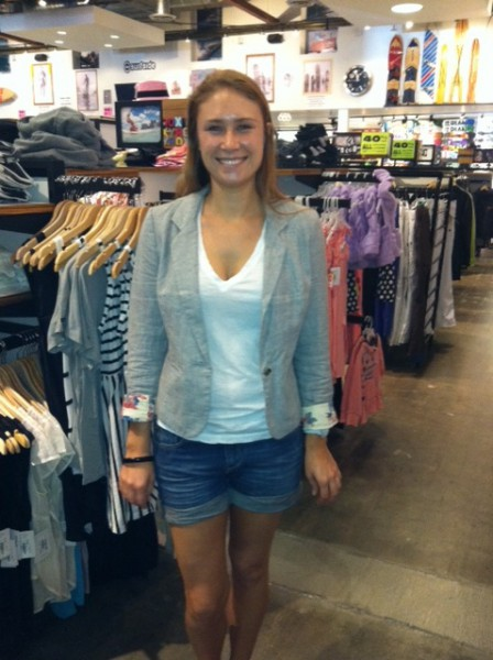 Meredith from Surfside sporting her new look!