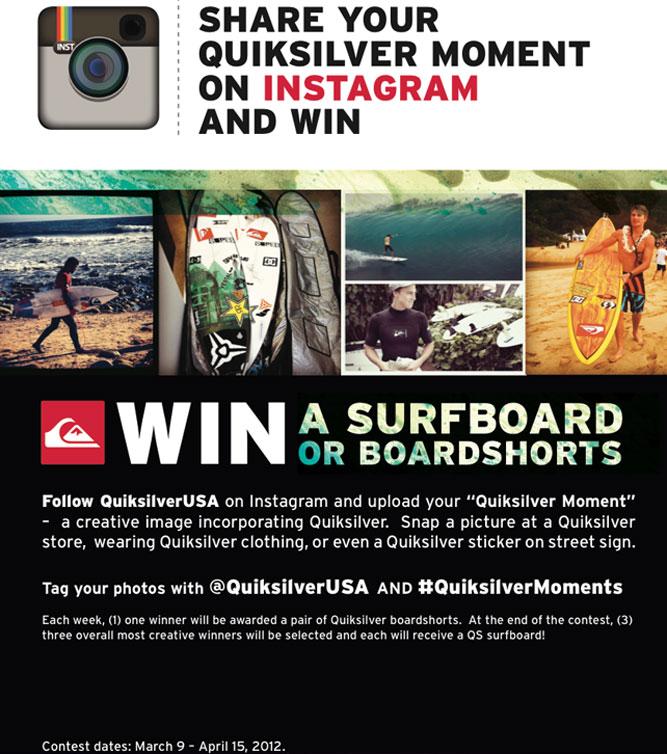 Quiksilver Moments Instagram Giveaway | Quiksilver