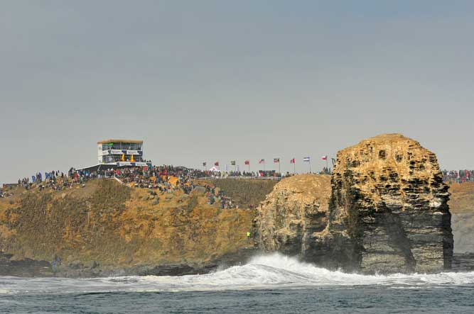 The event site over looking  the sand bottom point break Punta de Lobos.