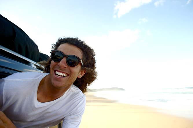 How good is the life of a professional free surfer! Ando can't not smile all day