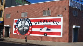 Wes Kremer fever with Seen Outdoor hand painted mural in NYC!