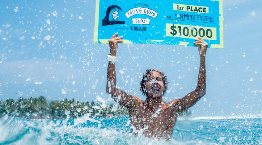 Sammy Pupo Wins 2017 Quiksilver Young Guns Surf