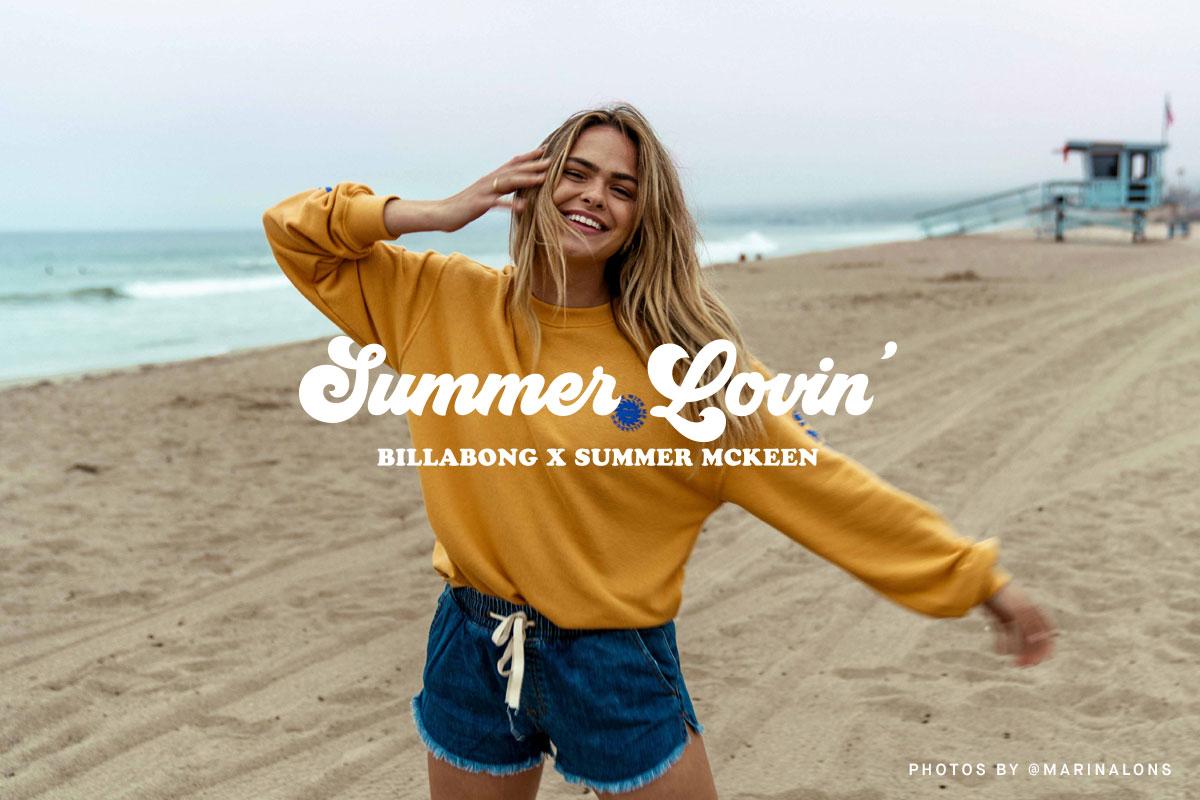 Summer Lovin' Billabong X Summer Mckeen Women's 2019 Lookbook