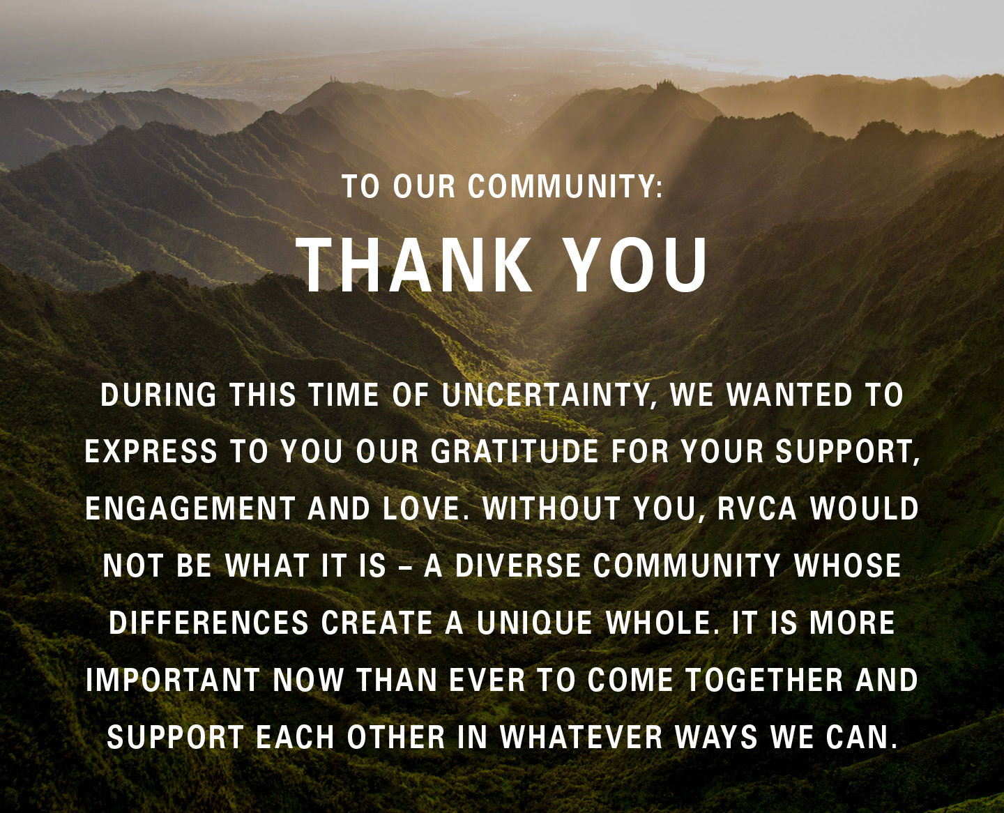 Community Thank You