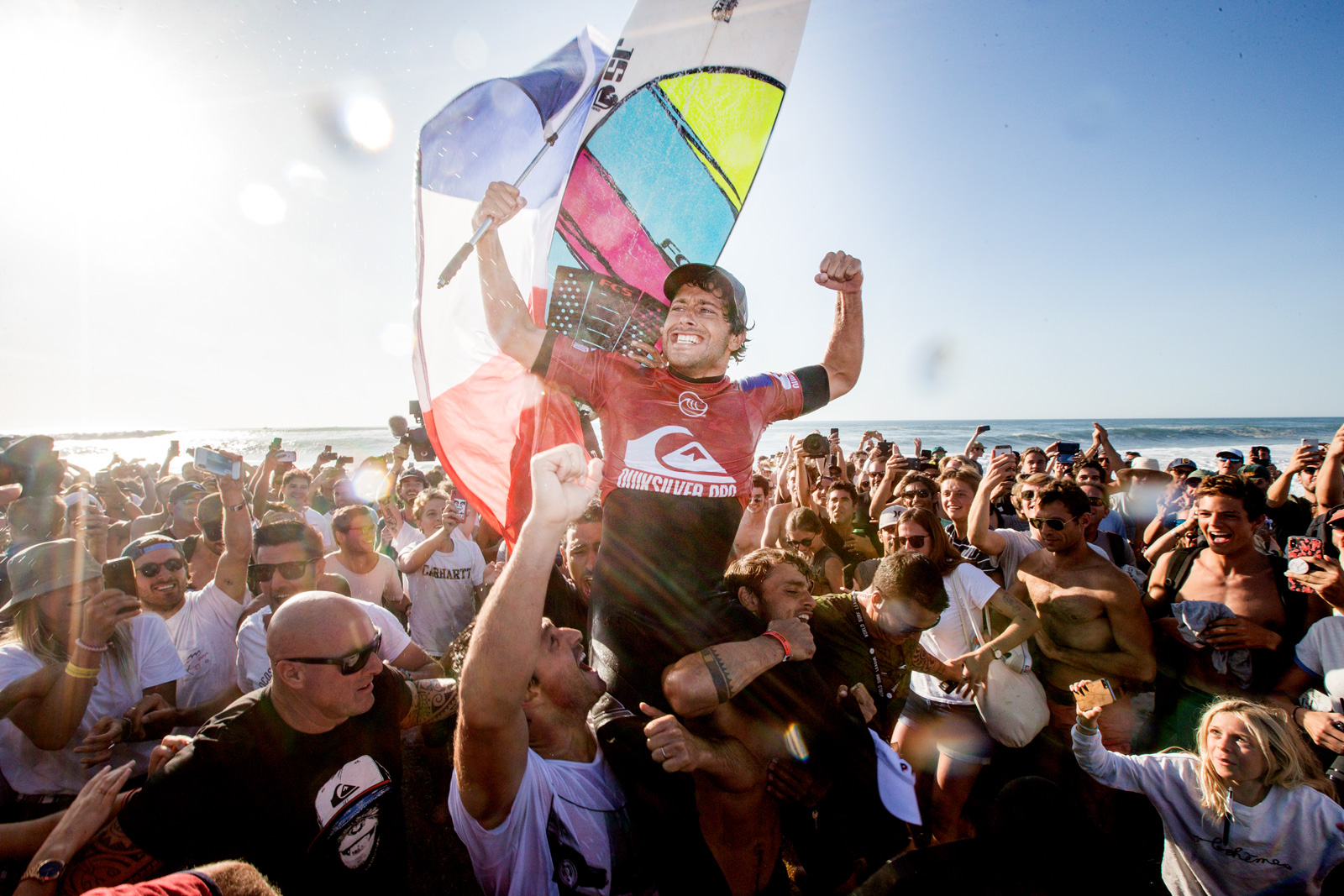 Jeremy Flores Quiksilver Pro Winning Barrel Close Up