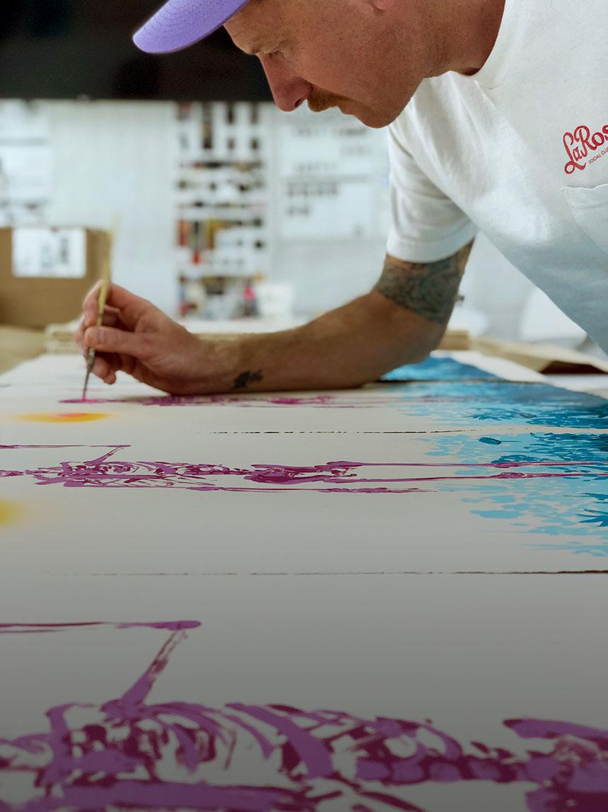 RVCA X Sage Vaughn Prints