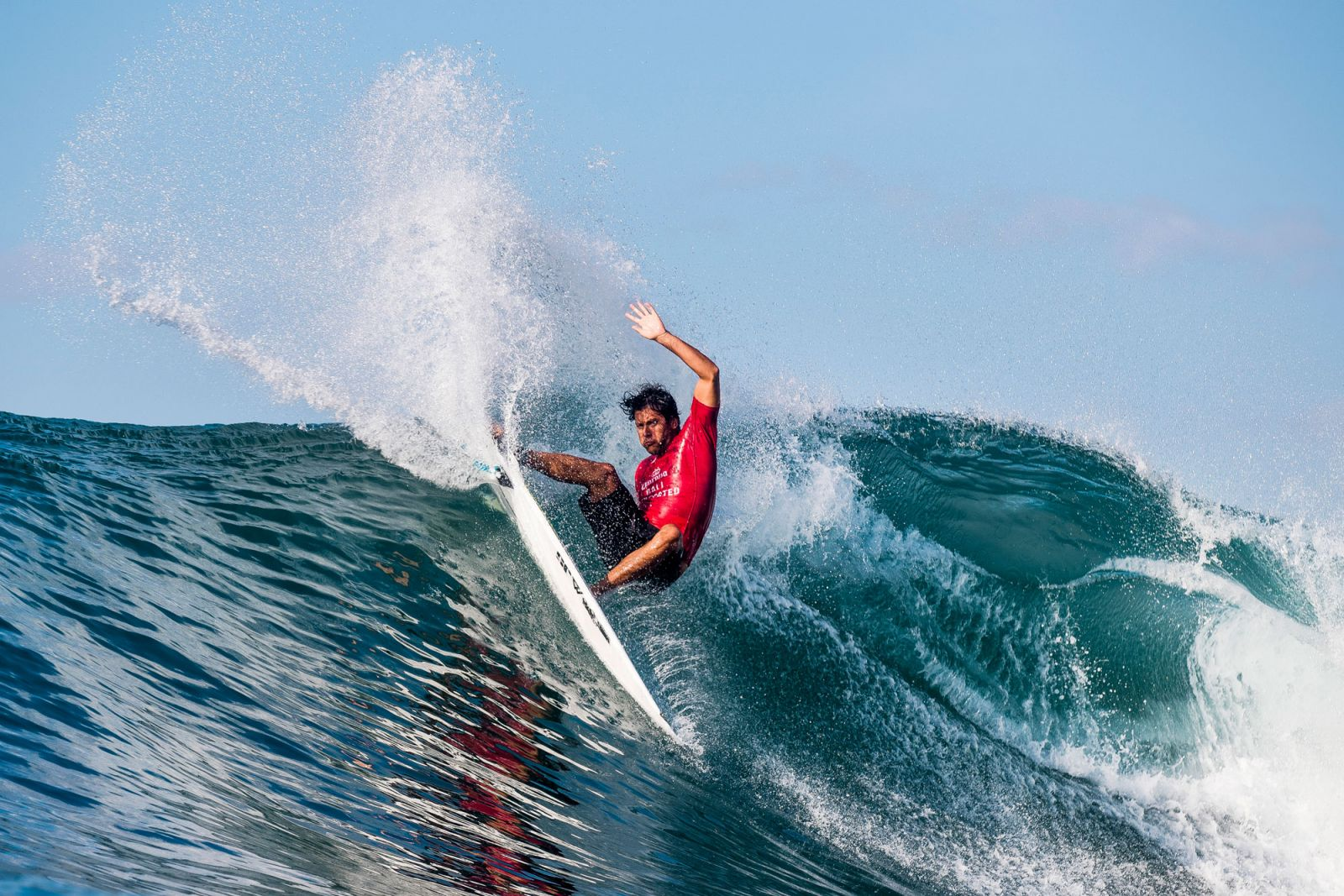 Jeremy Flores in action at the Corona Bali Protected CT