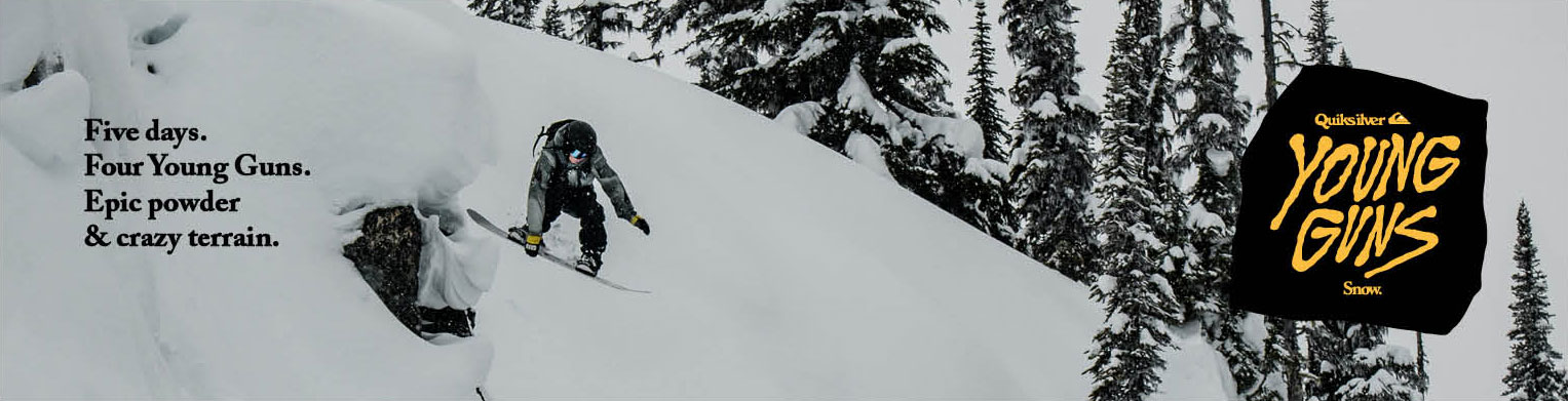 Five days. Four Young Guns. Epic powder & crazy terrain.